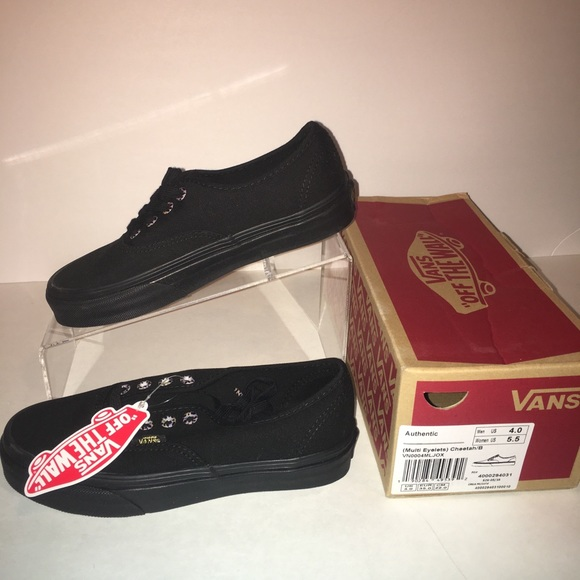 d153b2e305a Vans Authentic Multi Eyelets Cheetah Black